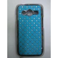 Дизайнерский поликарбонатный чехол со стразами для Samsung Galaxy Ace 4 Голубой