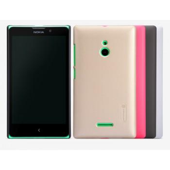 Пластиковый матовый нескользящий премиум чехол для Nokia XL