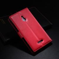 Чехол портмоне подставка с защелкой для Nokia XL Красный