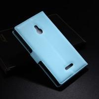 Чехол портмоне подставка с защелкой для Nokia XL Голубой