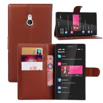Чехол портмоне подставка с защелкой для Nokia XL