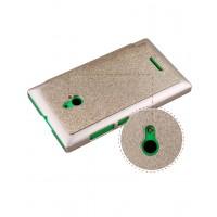 Текстурный чехол флип на пластиковой основе для Nokia XL