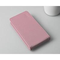 Чехол вертикальная книжка на пластиковой основе с магнитной застежкой для ASUS Zenfone 4 Розовый