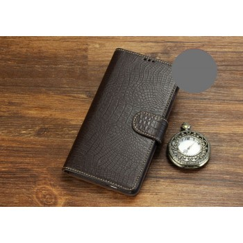 Кожаный чехол портмоне (нат. кожа крокодила) для HTC Desire 516