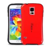 Силиконовый эргономичный чехол с нескользящими гранями для Samsung Galaxy S5 Mini Красный