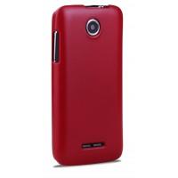 Пластиковый чехол серия Metallic для Lenovo A390 Красный