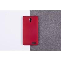 Пластиковый матовый непрозрачный чехол для Lenovo A319 Красный