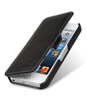 Кожаный винтажный чехол горизонтальная книжка с крепежной застежкой для Apple Iphone 5s/SE