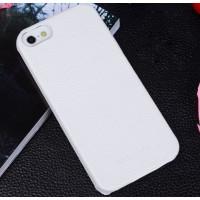 Кожаный чехол накладка Back Cover для Apple Iphone 5/5s/SE Белый