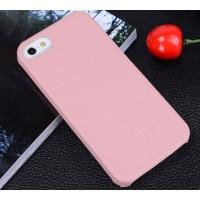 Кожаный чехол накладка Back Cover для Apple Iphone 5/5s/SE Розовый