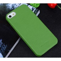 Кожаный чехол накладка Back Cover для Apple Iphone 5/5s/SE Зеленый