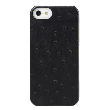 Кожаный чехол накладка (кожа страуса) для Apple Iphone 5s/SE