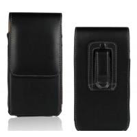 Вертикальная кобура с клапаном на кнопке и креплением под пояс для Nokia Lumia 630/635