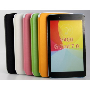 Чехол флип на силиконовой основе на присоске для LG G Pad 7.0