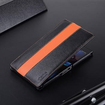 Кожаный дизайнерский чехол вертикальная книжка Sport Line для Sony Xperia Z Ultra