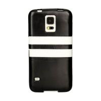 Силиконовый чехол с кожаной текстурой дизайн Полосы для Samsung Galaxy S5 Mini