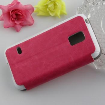 Текстурный чехол флип подставка на присоске и силиконовой основе для Samsung Galaxy S5 Mini