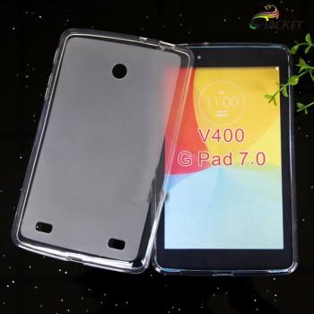 Силиконовый полупрозрачный чехол для LG G Pad 7.0