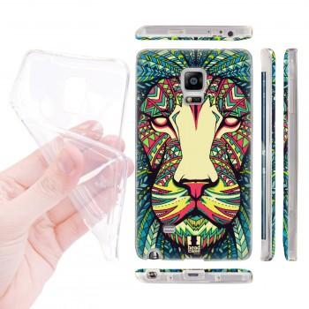 Силиконовый матовый дизайнерский чехол с эксклюзивной серией принтов для Samsung Galaxy Note Edge (изготовление на заказ)