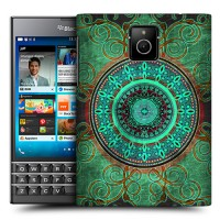 Пластиковый матовый дизайнерский чехол с эксклюзивной серией принтов для Blackberry Passport (изготовление на заказ)