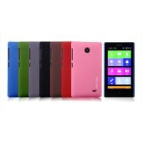 Пластиковый матовый чехол с повышенной шероховатостью для Nokia X