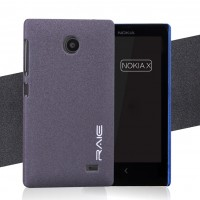 Пластиковый матовый чехол с повышенной шероховатостью для Nokia X Серый