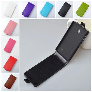 Чехол вертикальная книжка на пластиковой основе с магнитной застежкой для Nokia X