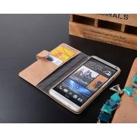 Кожаный винтажный чехол портмоне для HTC One Max