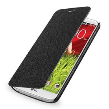 Кожаный чехол горизонтальная книжка (нат. кожа) для LG Optimus G2