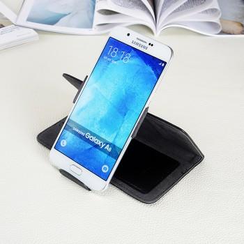 Кожаный чехол горизонтальная книжка подставка роторный с отделением для карт и магнитной застежкой для Samsung Galaxy A8