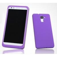 Силиконовый матовый софт-тач премиум чехол для Huawei Honor 7 Фиолетовый