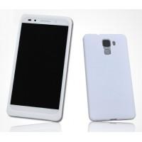 Силиконовый матовый софт-тач премиум чехол для Huawei Honor 7 Белый