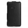 Кожаный чехол вертикальная книжка (нат. кожа) для Nokia Lumia 625