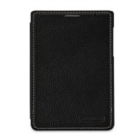 Кожаный чехол горизонтальная книжка (нат. кожа) для BlackBerry Passport Silver Edition Черный