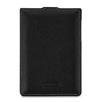 Кожаный чехол вертикальная книжка (нат. кожа) для BlackBerry Passport Silver Edition Черный