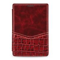 Эксклюзивный кожаный чехол горизонтальная книжка (2 вида нат. кожи) для BlackBerry Passport Silver Edition Красный