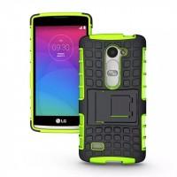 Антиударный силиконовый чехол экстрим защита с подставкой для LG Leon Зеленый