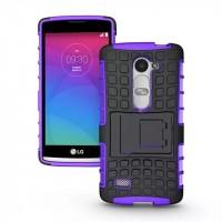 Антиударный силиконовый чехол экстрим защита с подставкой для LG Leon Фиолетовый