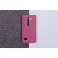 Пластиковый матовый непрозрачный чехол для LG Leon Розовый