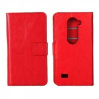 Чехол портмоне подставка с защелкой для LG Leon Красный