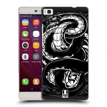 Пластиковый матовый дизайнерский чехол с эксклюзивной серией принтов для Huawei P8 (изготовление на заказ)