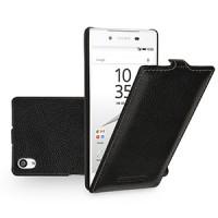 Кожаный чехол вертикальная книжка (нат. кожа) для Sony Xperia Z5