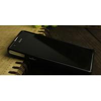 Силиконовый непрозрачный чехол для Sony Xperia ZR Черный
