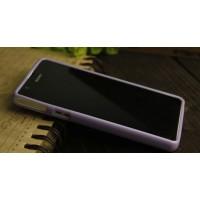 Силиконовый непрозрачный чехол для Sony Xperia ZR Фиолетовый