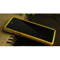 Силиконовый непрозрачный чехол для Sony Xperia ZR Желтый
