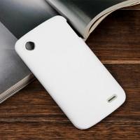 Пластиковый чехол серия Metallic для Lenovo A800 Белый