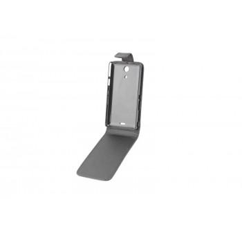 Чехол вертикальная книжка на пластиковой основе с магнитной застежкой для Sony Xperia ZR