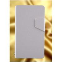 Текстурный чехол флип подставка на пластиковой основе для Sony Xperia ZR Белый