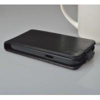 Чехол вертикальная книжка на пластиковой основе с магнитной застежкой для Samsung Galaxy Win Черный