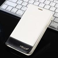 Двухцветный чехол флип подставка на пластиковой основе для Samsung Galaxy Win Белый